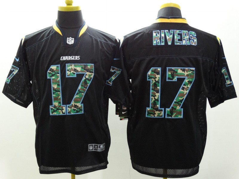 Los Angeles Chargers 17 Philip Rivers Black Camo Fashion 2014 New Nike Jerseys