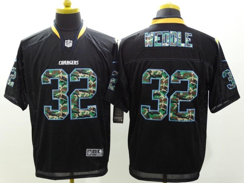 San Diego Chargers 32 Eric Weddle Black Camo Fashion 2014 New Nike Jerseys