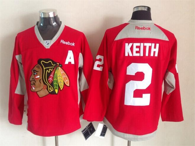 NHL Chicago Blackhawks 2 Duncan Keith Red 2015 Stadium Series Premier Jersey
