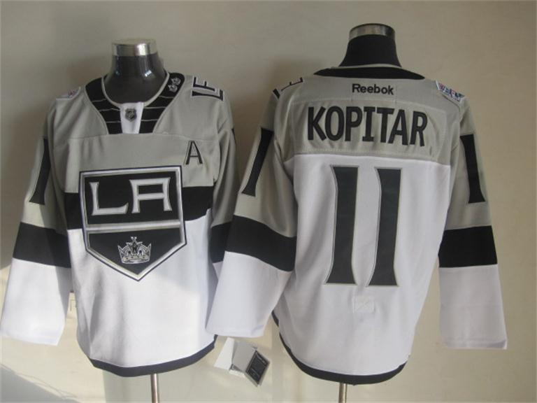 NHL Los Angeles Kings 11 Anze Kopitar White 2015 Stadium Series Premier Jersey