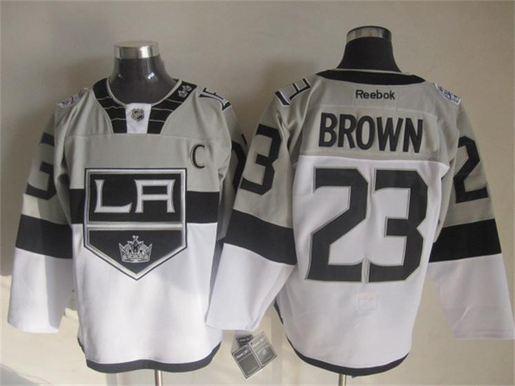 NHL Los Angeles Kings 23 Dustin Brown White 2015 Stadium Series Premier Jersey