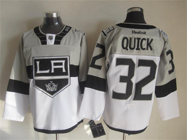 NHL Los Angeles Kings 32 Jonathan Quick White 2015 Stadium Series Premier Jersey