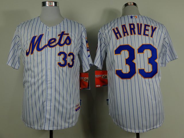 MLB New York Mets 33 Matt Harvey white Home NEW 2015 Jersey
