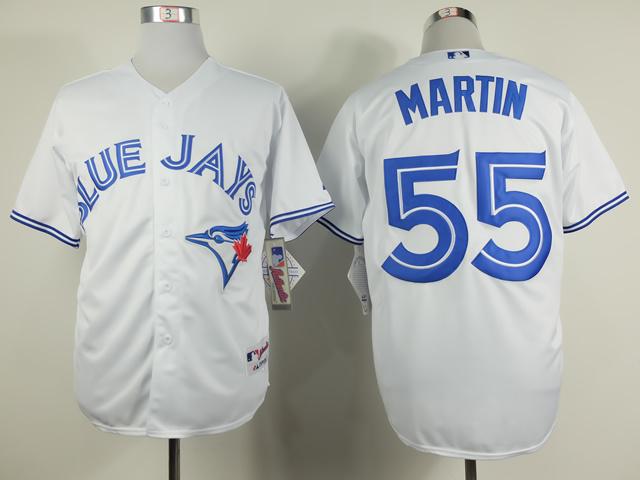 MLB Toronto Blue Jays 55 Russell Martin White 2014 Jerseys