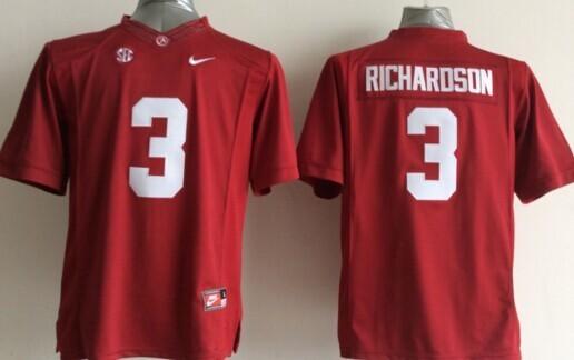 Youth NCAA Alabama Crimson Tide 3 Richardson Red 2015 Jerseys