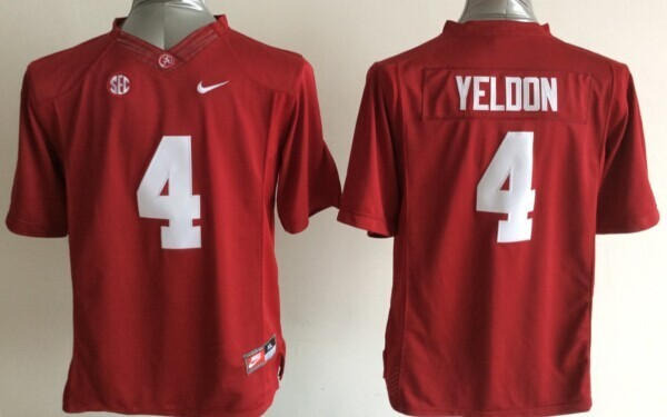 Youth NCAA Alabama Crimson Tide 4 T.J Yeldon Red 2015 Jerseys