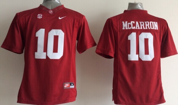 Youth NCAA Alabama Crimson Tide 10 AJ McCarron Red 2015 Jerseys