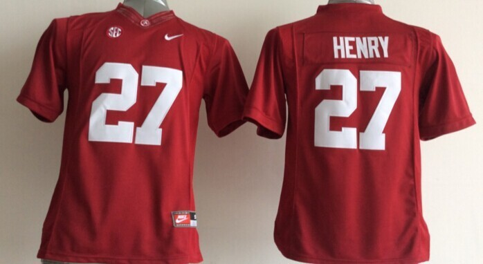 Youth NCAA Alabama Crimson Tide 27 Derrick Henry Red 2015 Jerseys