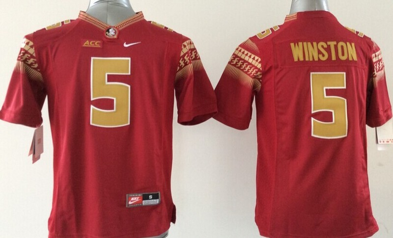 Youth NCAA Florida State Seminoles 5 Jameis Winston Red 2015 Jerseys