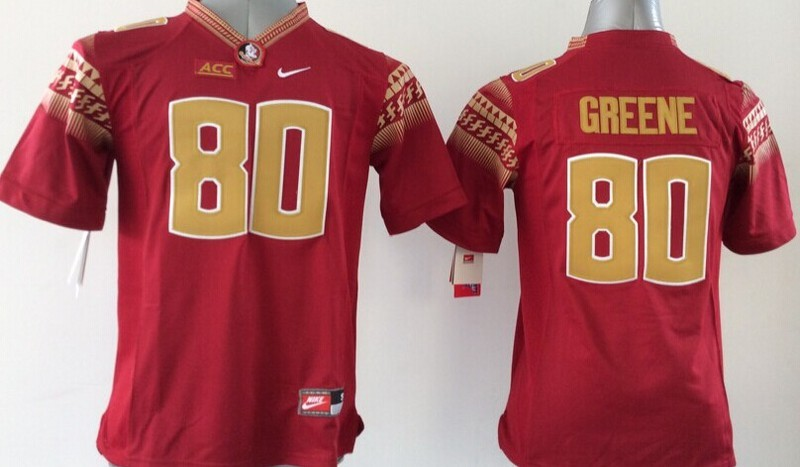 Youth NCAA Florida State Seminoles FSU 80 Rashad Greene Red 2015 Jerseys