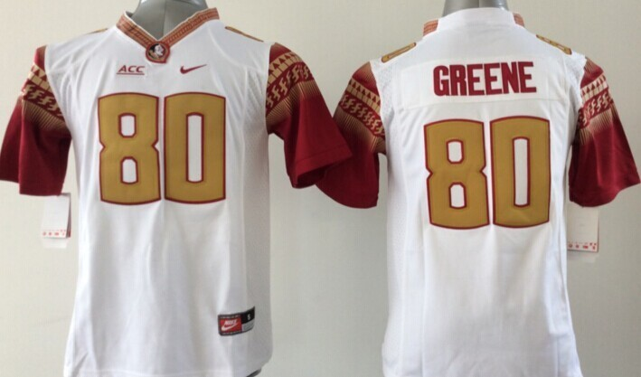Youth NCAA Florida State Seminoles FSU 80 Rashad Greene White 2015 Jerseys