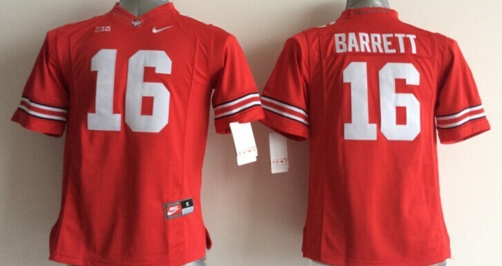 Youth NCAA Ohio State Buckeyes 16 J.T. Barrett Red 2015 Jerseys
