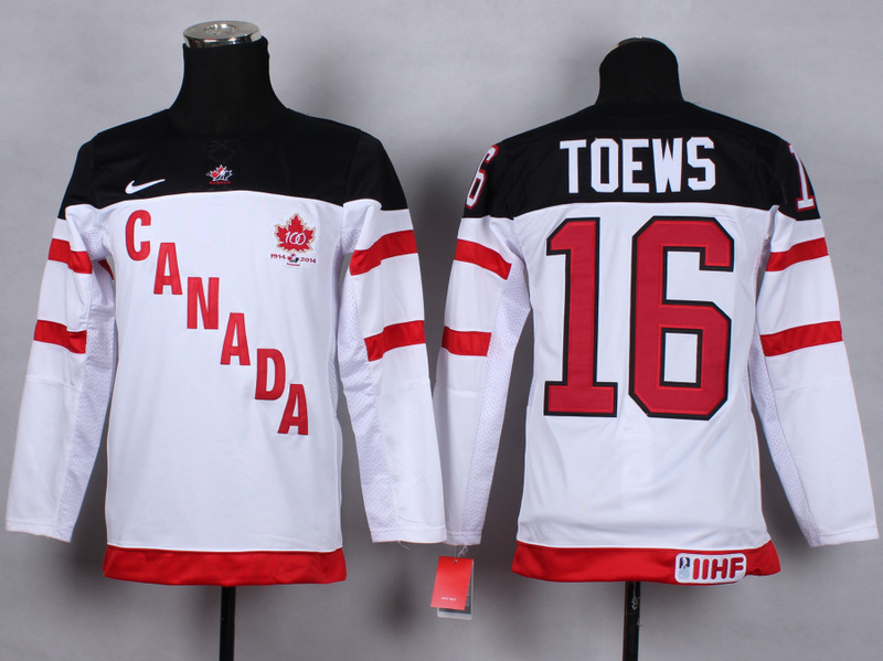 Youth NHL Olympic 16 toews white 2015 Jerseys
