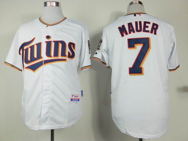 MLB Minnesota Twins 7 Joe Mauer White 2015 Home Jersey