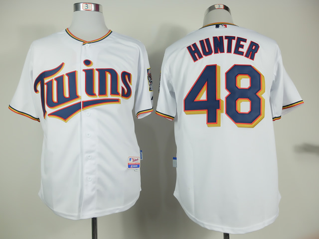 MLB Minnesota Twins 48 Torii Hunter White 2015 Home Jersey