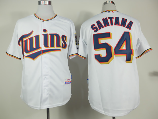 MLB Minnesota Twins 54 ervin Santana White 2015 Home Jersey