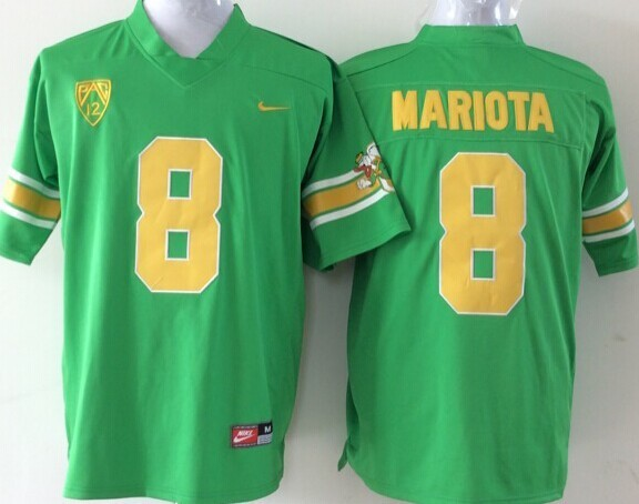 NCAA Oregon Ducks 8 Mariota green 2015 Jerseys