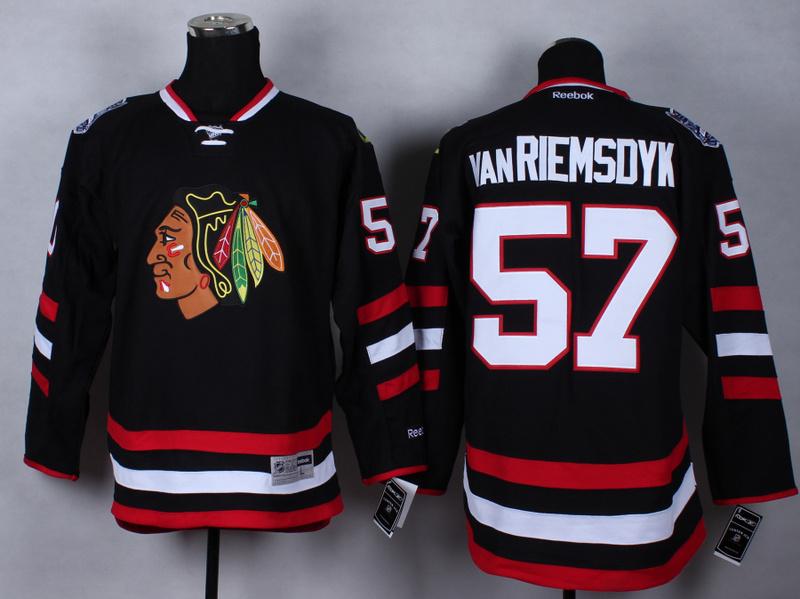 NHL Chicago Blackhawks 57 Trevor vanRiemsdyk Black 2015 Jerseys
