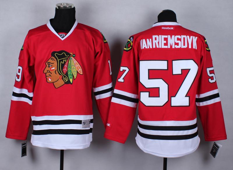 NHL Chicago Blackhawks 57 Trevor vanRiemsdyk Red 2015 Jerseys