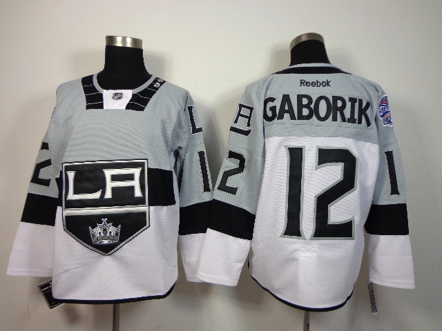 NHL Los Angeles Kings 12 Marian Gaborik White 2015 Stadium Series Premier Jersey
