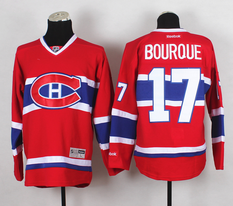 NHL Montreal Canadiens 17 Bourque Red 2015 Jerseys