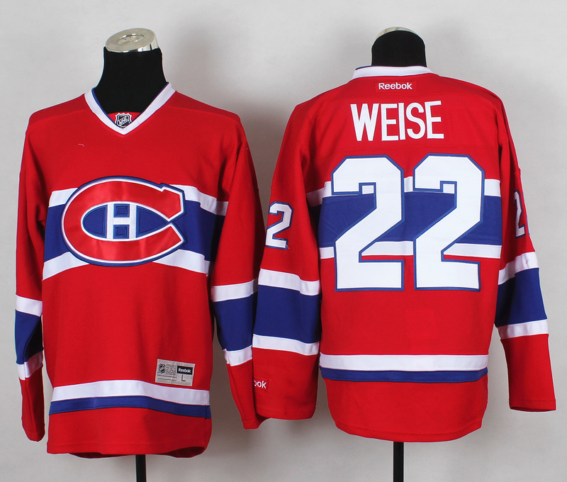 NHL Montreal Canadiens 22 Weise Red 2015 Jerseys