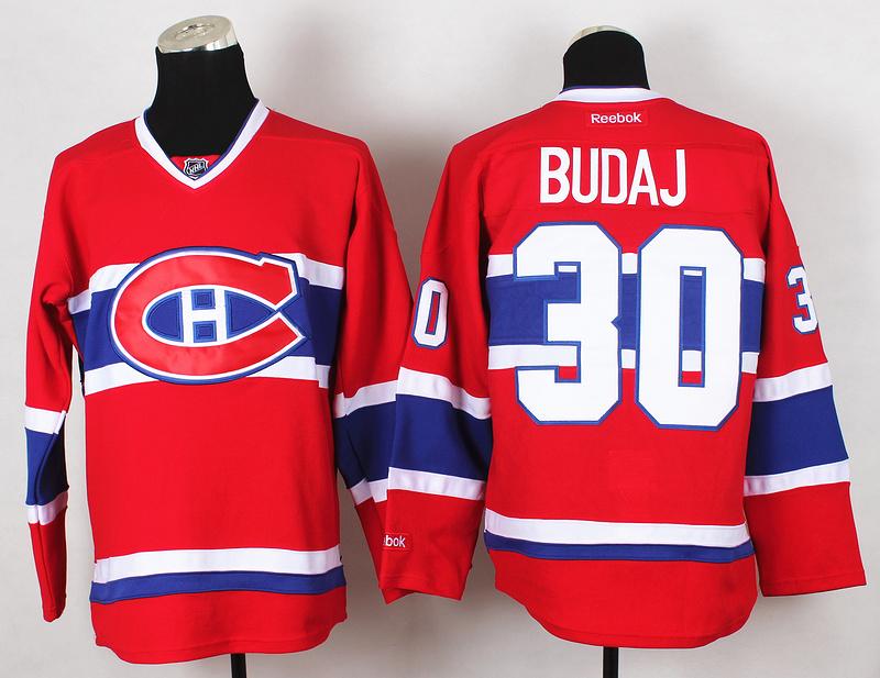 NHL Montreal Canadiens 30 Budaj Red 2015 Jerseys