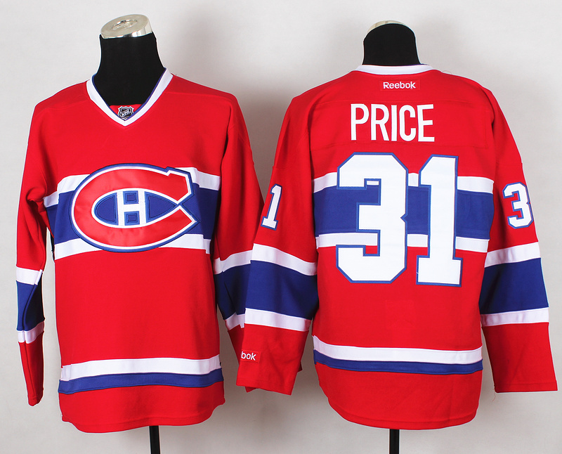 NHL Montreal Canadiens 31 Price Red 2015 Jerseys