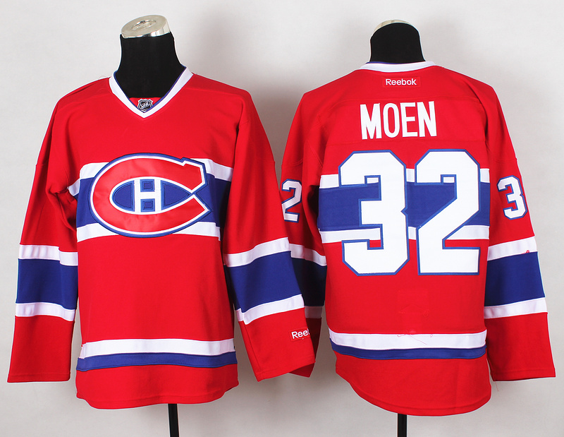 NHL Montreal Canadiens 32 Moen Red 2015 Jerseys