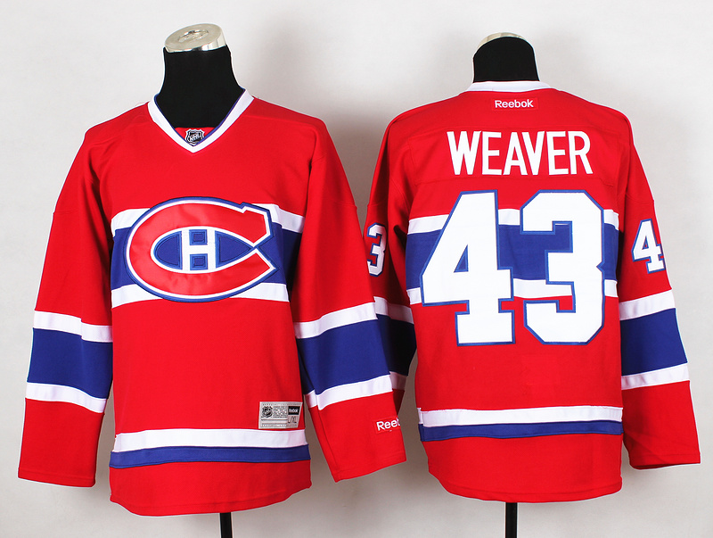 NHL Montreal Canadiens 43 Weaver Red 2015 Jerseys