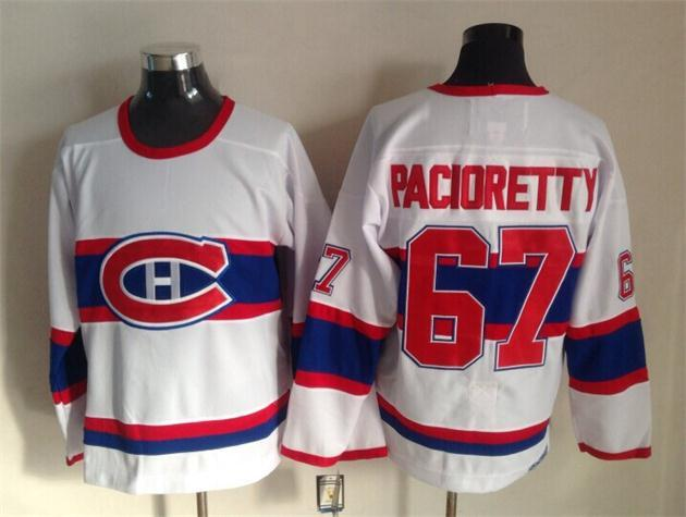 NHL Montreal Canadiens 67 Max Pacioretty white 2015 Throwback Jerseys