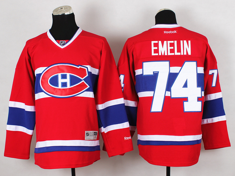 NHL Montreal Canadiens 74 Enelin Red 2015 Jerseys