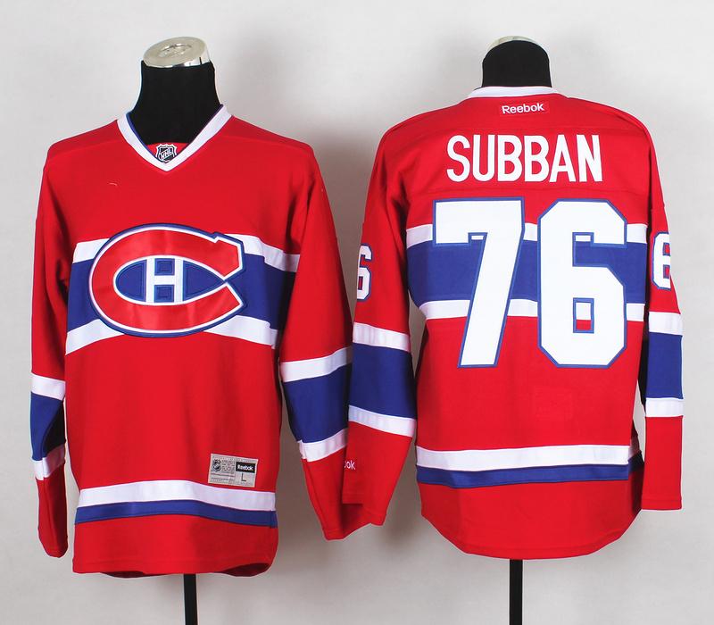 NHL Montréal Canadiens 76 Subban Red 2015 Jerseys