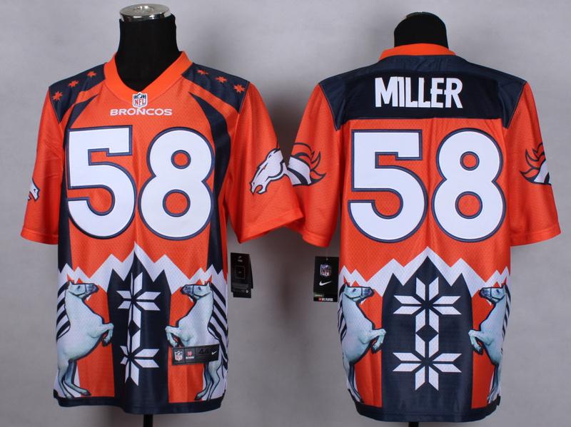 Denver Broncos 58 Von Miller Orange 2015 New Style Noble Fashion Elite Jerseys