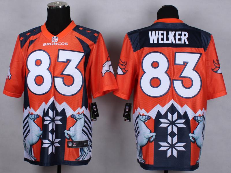 Denver Broncos 83 Wes Welker Orange 2015 New Style Noble Fashion Elite Jerseys