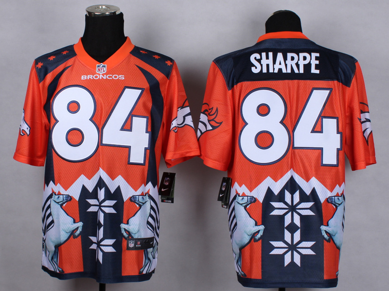 Denver Broncos 84 Shannon Sharpe Orange 2015 New Style Noble Fashion Elite Jerseys