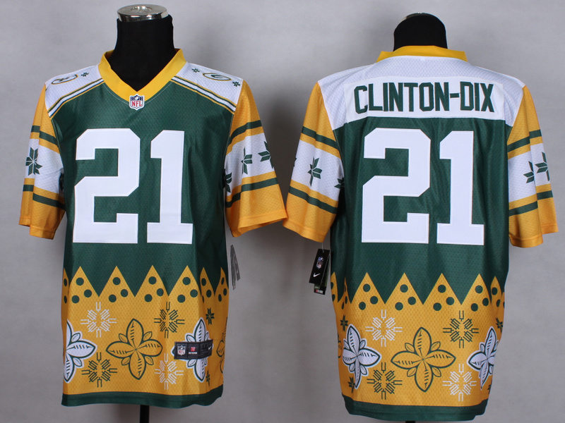 Green Bay Packers 21 Ha Ha Clinton-Dix Green 2015 New Style Noble Fashion Elite Jerseys