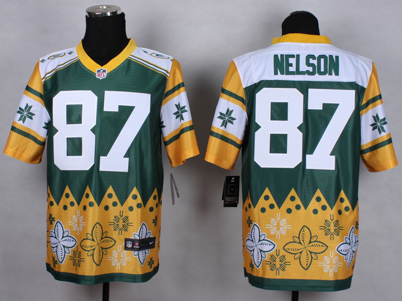 Green Bay Packers 87 Jordy Nelson Green 2015 New Style Noble Fashion Elite Jerseys