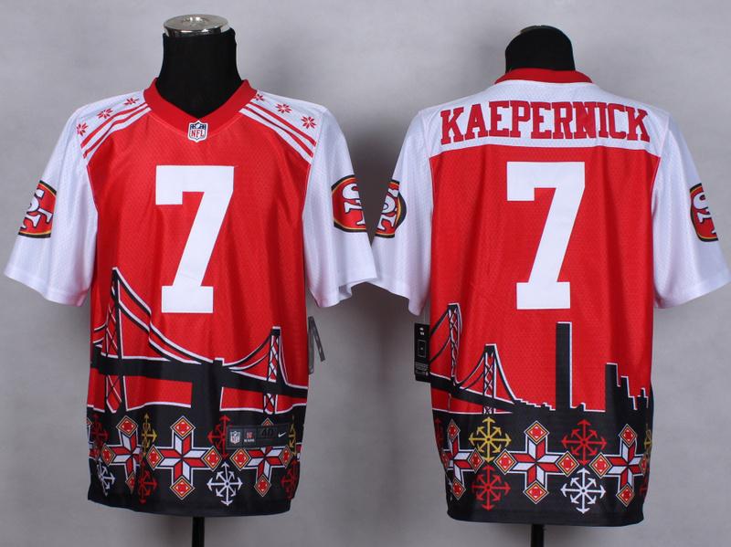 San Francisco 49ers 7 Colin Kaepernick Red 2015 New Style Noble Fashion Elite Jerseys