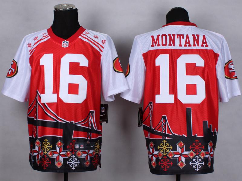 San Francisco 49ers 16 Joe Montana Red 2015 New Style Noble Fashion Elite Jerseys