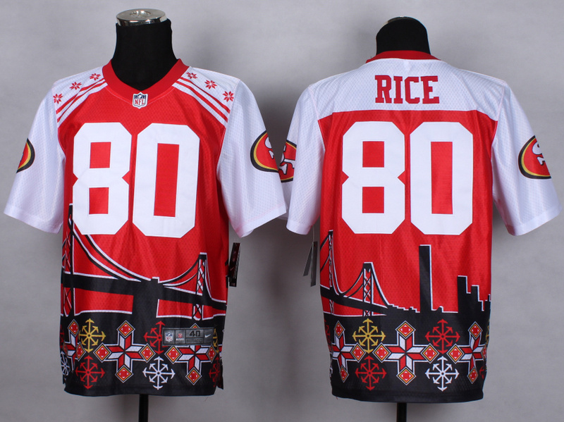 San Francisco 49ers 80 Jerry Rice Red 2015 New Style Noble Fashion Elite Jerseys