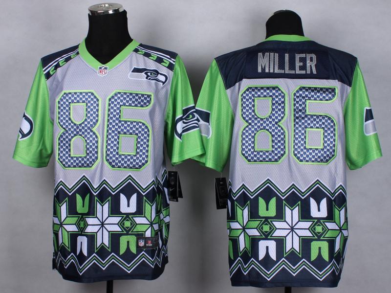 Seattle Seahawks 86 Zach Miller Grey 2015 New Style Noble Fashion Elite Jerseys