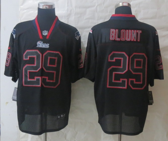 New England Patriots 29 Blount Lights Out Black 2014 Nike Elite Jersey