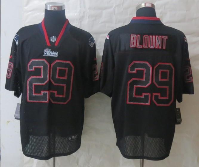New England Patriots 29 Blount Lights Out Black 2014 Nike Elite Jersey