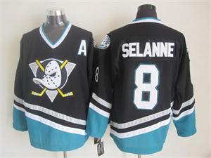 NHL Anaheim Ducks 8 Teemu Selanne black 2015 jerseys