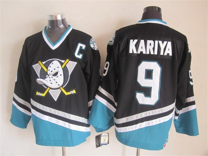 NHL Anaheim Ducks 9 Kariya black 2015 jerseys