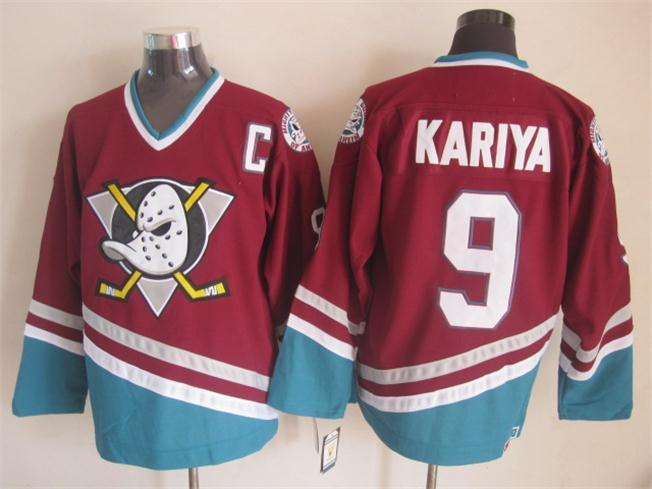 NHL Anaheim Ducks 9 Kariya red 2015 jerseys