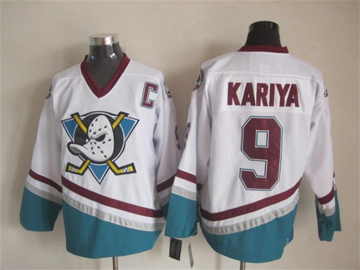 NHL Anaheim Ducks 9 Kariya white 2015 jerseys