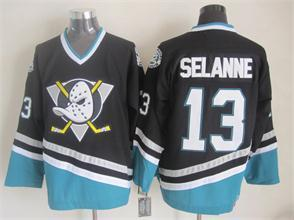 NHL Anaheim Ducks 13 Selanne black 2015 jerseys