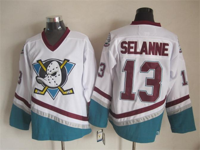 NHL Anaheim Ducks 13 Selanne White 2015 jerseys